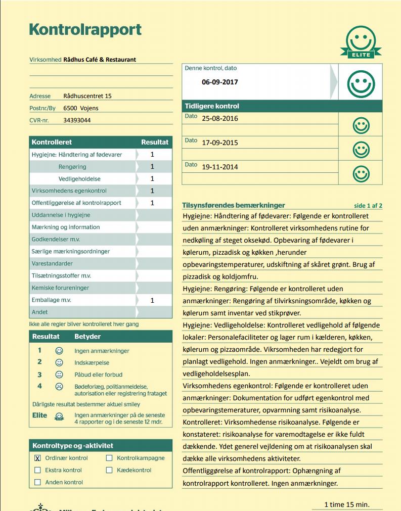 Kontrolrapport, september 2017